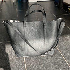 H&M Black Open Shopper Tote
